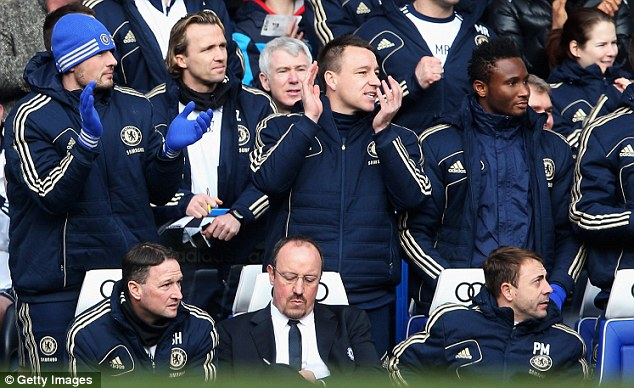 Lurking: Surely Chelsea's 'captain, leader, legend' wouldn't be charged with taking over in the dugout