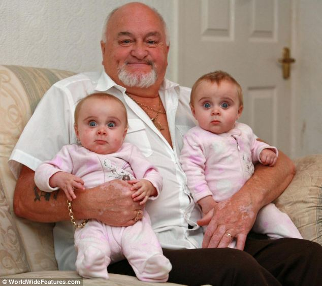 Doting father: Mr Roden said that he thought he would be there to see his young daughters, pictured as babies, grow up