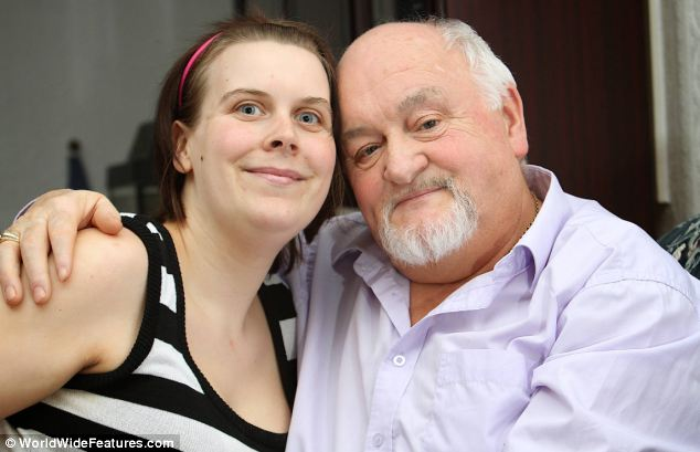 Fighter: Mr Roden, right, has vowed that he will battle the disease for as long as he can so that he can spend time with his four-year-old twin girls, his two-year-old daughter, and 28-year-old wife Lisa, left