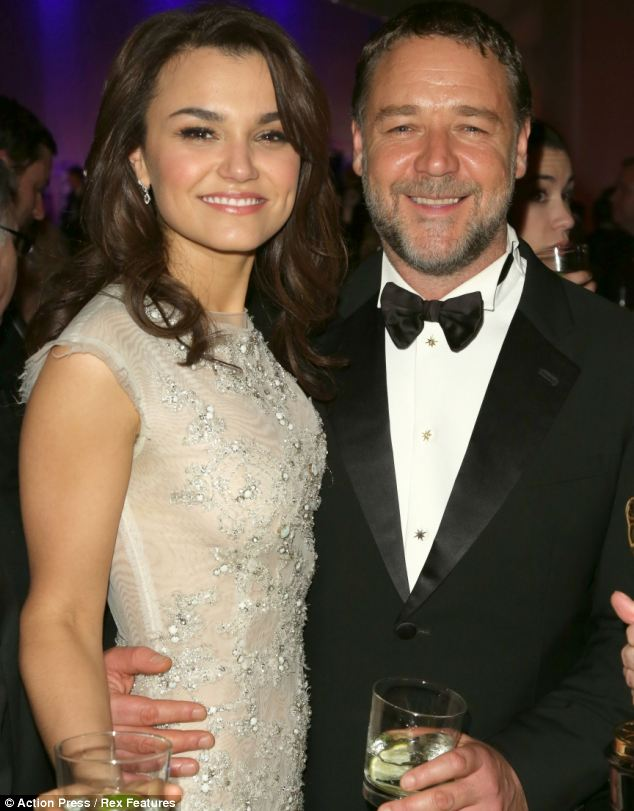 Just friends? Samantha Barks with Russell Crowe at the Oscars last month