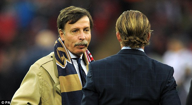 Quick buck: Majority shareholder Stan Kroenke would stand to make around £1billion from any sale