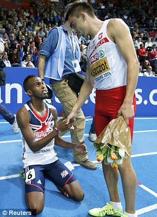 Battling performance: Mukhtar Mohammed won a bronze medal in the 800m