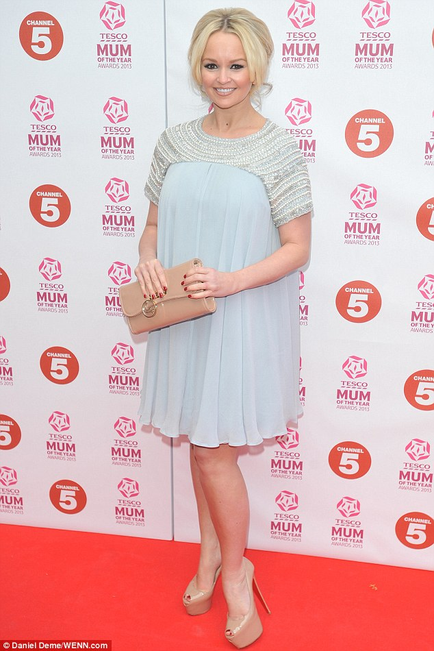 Effortlessly chic: Jennifer Ellison looked pretty as a picture in a grey pearl-detail minidress
