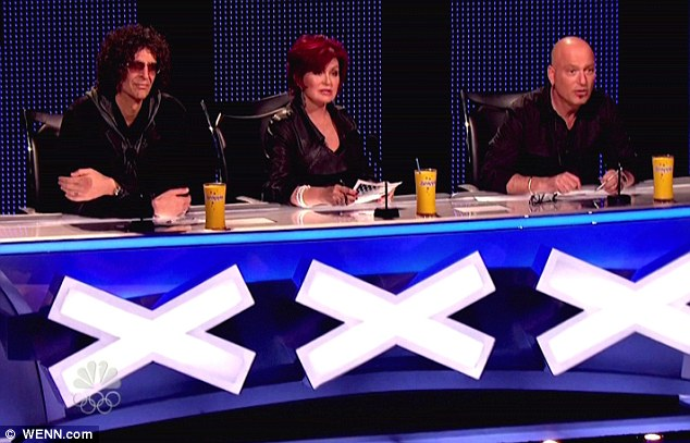 The good old days: Talent fans will soon be pining for former judge and professional manager Sharon Osbourne