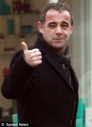 Michael le Vell appears happy when leaving his local pub, The Railway in Hale, Cheshire, before visiting a bookmakers and heading home