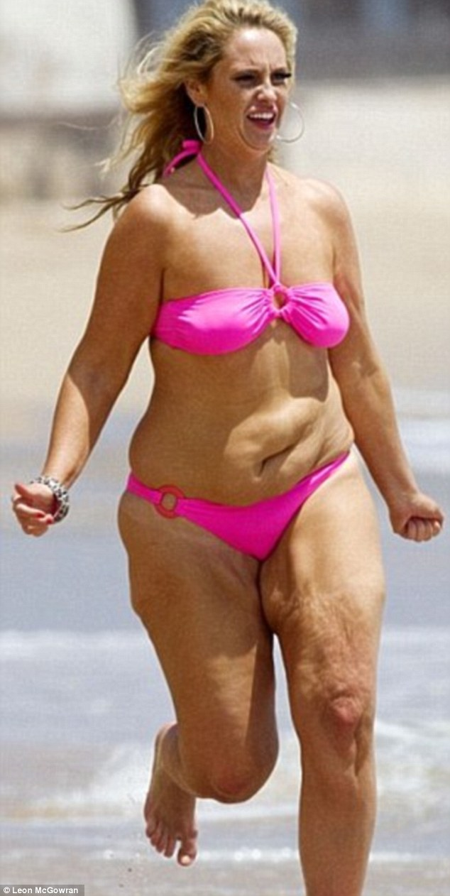 It was this picture which made Josie want to shed her weight - she previously admitted she was addicted to kebabs