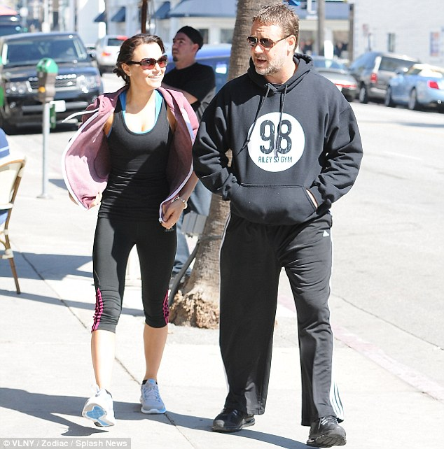 The odd couple: Samantha and Russell didn't seem like an obvious pair as they walked down the street