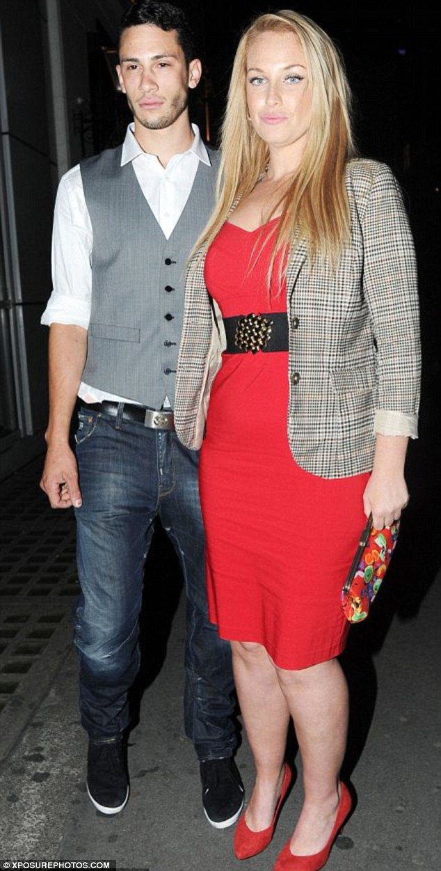 Engaged: Luke agreed to marry Josie after she proposed last year, before her startling weight loss
