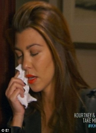 Heartbroken: Kourtney Kardashian was emotional after her partner Scott Disick forgot about a romantic date she planned during a trip to Paris during the latest episode of Kourtney & Kim Take Miami