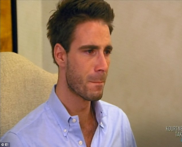 Unhappy ending: The traumatic meal leaves Simon in tears