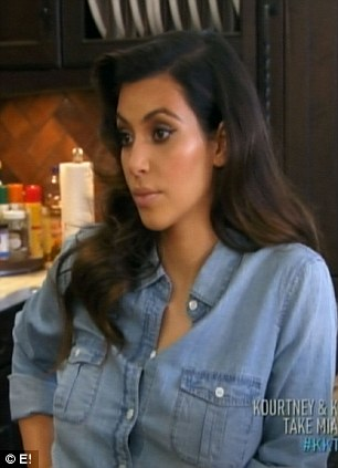 Learning her lesson: Jonathan tells Kim she needs to mind her business