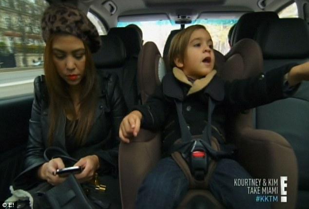 Mommy and me: Kourtney spent the day seeing the sights with her son Mason
