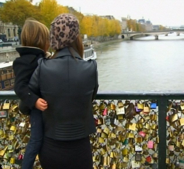 Lovers bridge: The two stopped at Pont de l'Archeveche, where they were supposed to meet Scott
