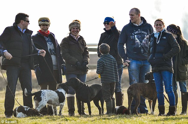 Family: The Princess Royal, Zara Phillips and her husband Mike Tindall were left disappointed when their horse failed to complete its race