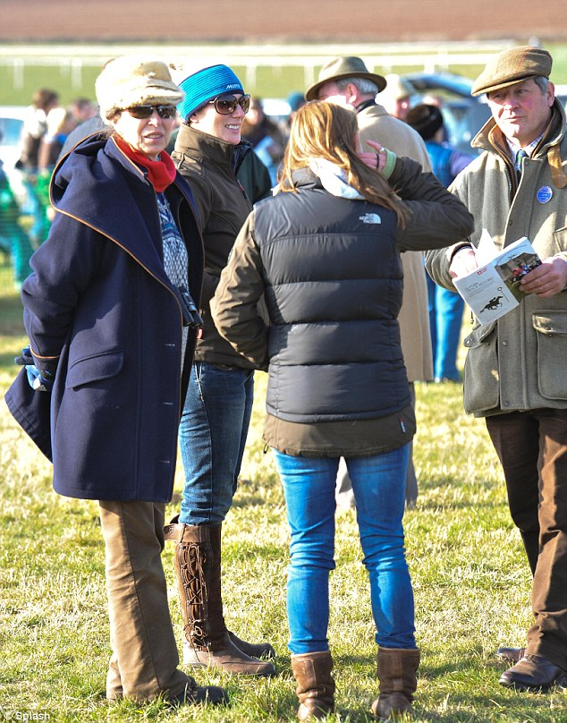 Disappointment: Princess Anne and Zara's horse 'Fiddle Faddle' pulled up during the 3 o'clock race