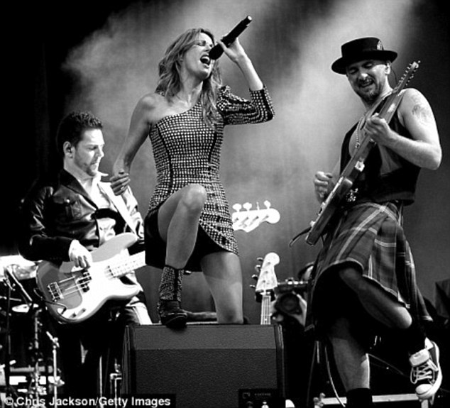 Bringing a touch of glamour: Kirsty Bertarelli opened for Mick Hucknall and Simply Red at Edinburgh Castle in 2010 and now she is back to take the music world by storm