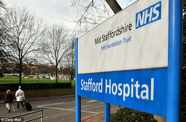 Worrying: Nurses were often marched up to account for themselves to executives at Stafford General Hospital if they breached the four-hour limit for treating patients and 'made a spectacle of', it was claimed