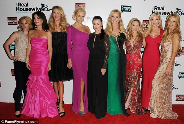 Changes: The entire cast of Real Housewives Of Beverly Hills pose for a picture at the season three premiere of the show held at Hollywood Roosevelt Hotel in December 2012