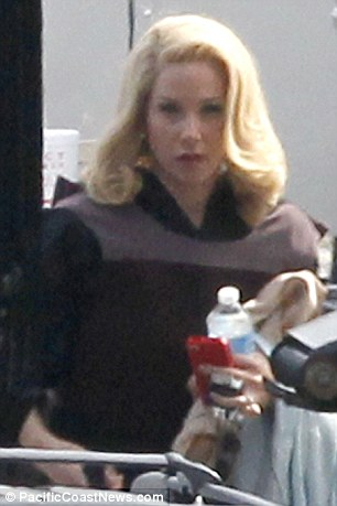 Breaking news! Christina Applegate was also on set as she prepared to repirse her role as Veronica Corningstone