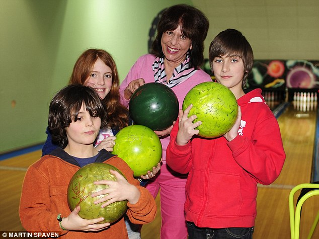 Henry, Delilah and Arthur loved ten-pin bowling - especially the cheeseburgers, chicken nuggets and chips for lunch washed down with gallons of fizzy drink