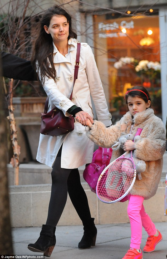 Putting down roots: Katie is reportedly looking to make a permanent move to New York with her daughter Suri, 6