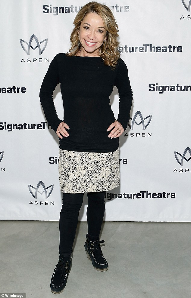 Casual cutie: Pint-sized dancer and actress Jennifer Cody meanwhile went casual for the event in a black long sleeve top and a lace skirt worn over black leggings
