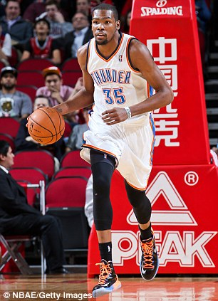 On show: Jrue Holiday of the Philadelphia 76ers and Kevin Durant of the Oklahoma City Thunder will appear
