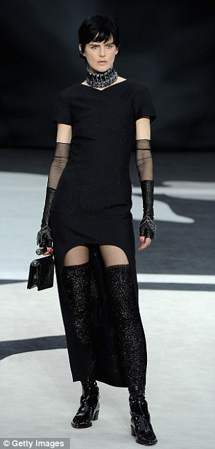 Modern twist: Re-workings of the classic Little Black Dress that Coco Chanel was famous for