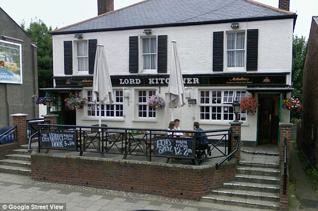 Death: The woman, named by locals as Christie Marriott McHugh, is believed to have got into an argument with a woman outside the Lord Kitchener in Barnet, north London