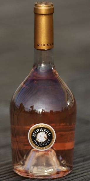 A bottle of 'Miraval, Cote de Provence' rose wine, 6,000 bottles of this rose wine, produced from grapes grown in the vineyard in southern France owned by U.S. actors Angelina Jolie and Brad Pitt, are now on sale
