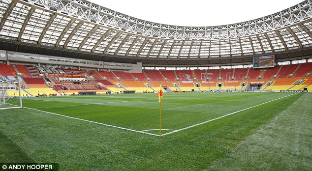 Home sweet home? Anzhi play their Europa League games 1,000 miles away in Moscow's Luzhniki Stadium