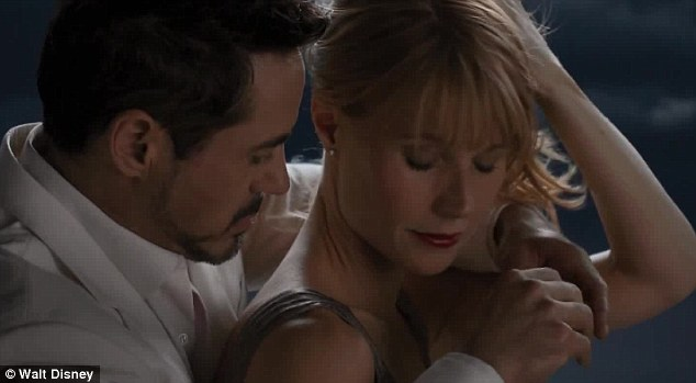 Romance: In the movie, Gwyneth plays Tony Stark's girlfriend, longtime associate and his personal assistant,  Virginia 'Pepper' Potts