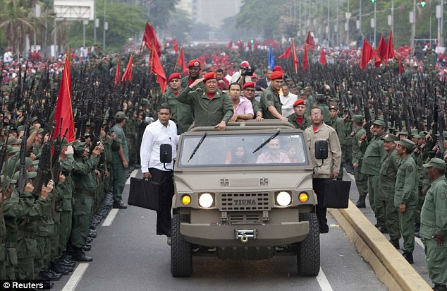 Coup: Chavez was first elected president in 1998, after he led a failed coup in 1992