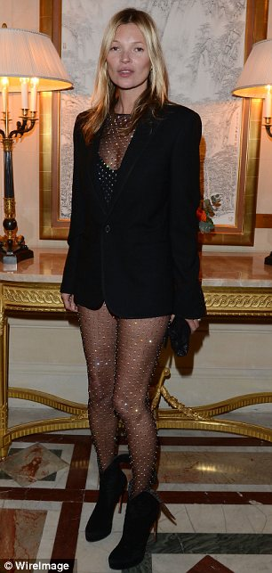 That's a bold move: Kate Moss dared to bare all on Tuesday at the CR Fashion Book Issue 2 in Paris
