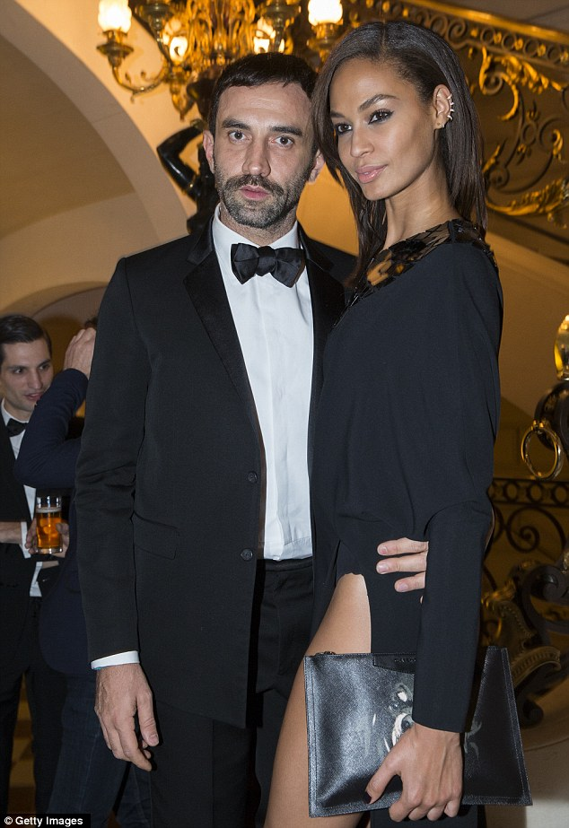Rubbing shoulders with the world of fashion: Joan vogued with Givenchy's Riccardo Tisci