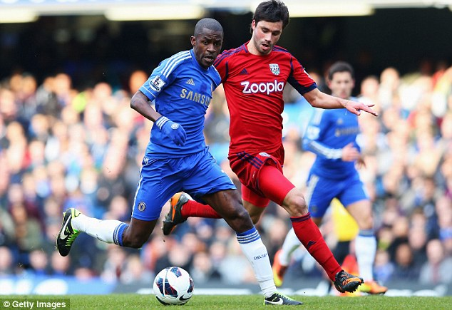 Rested: Chelsea midfielder Ramires and (below) forward Victor Moses