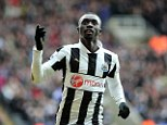 Papiss Cisse ruled out of Europa League clash against Anzhi Makhachkala