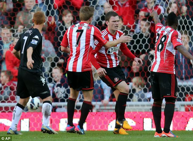 Comeback: Sunderland fought back from two goals down against Fulham
