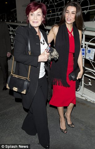 Back in Cowell's crew: Sharon Osbourne had dinner with Simon's ex-fiance Mezhgan Hussainy earlier this week