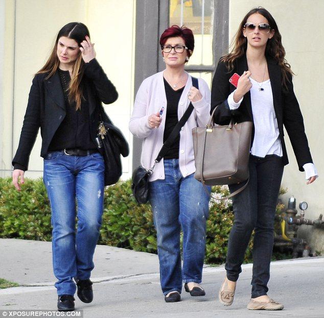 Feeling arty? Sharon and Aimee Osbourne were seen outside an art gallery on Wednesday