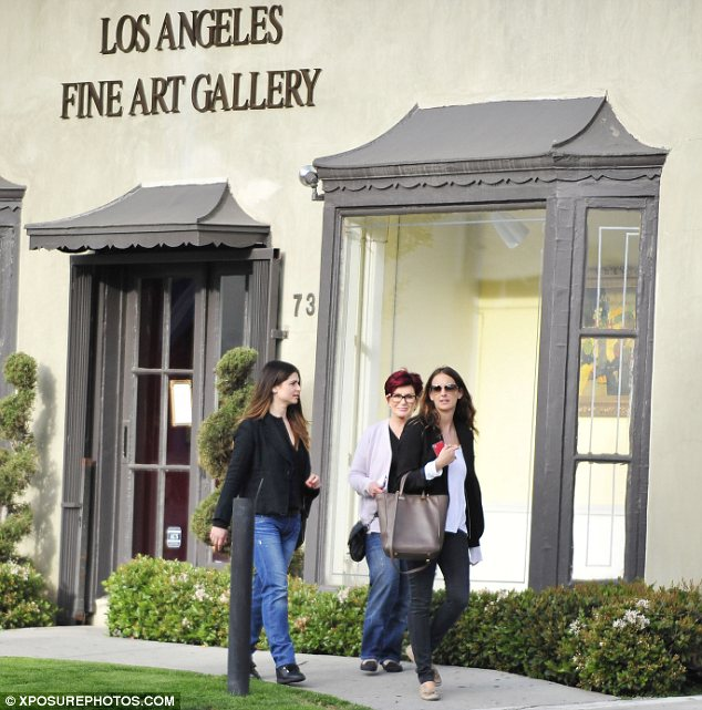 Cultured: The mother and daughter were seen outside the LA Fine Art Gallery