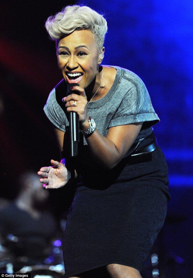 She's a Brit girl: Emeli Sandé showed off her award-winning skills on stage