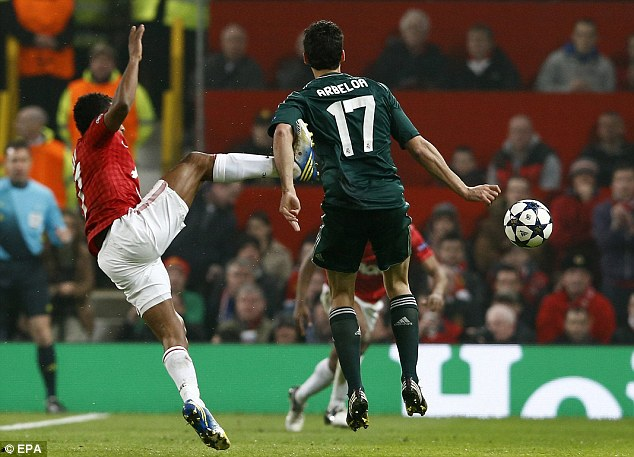 Kicking off: This challenge earned Nani a red card - and sparked another entertaining debate on these pages