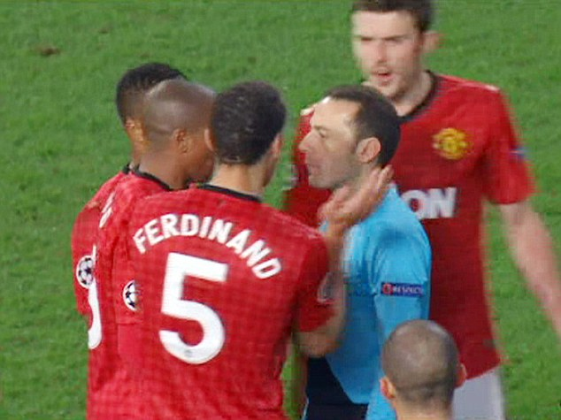 Refs just LOVE sarcasm: Rio Ferdinand applauded the official at the end of the match