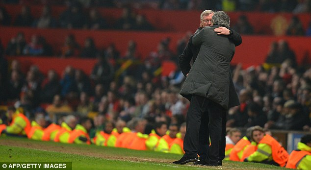 Don't leave too much of a mess for me: Mourinho would appear to fancy taking over from Fergie at Old Trafford