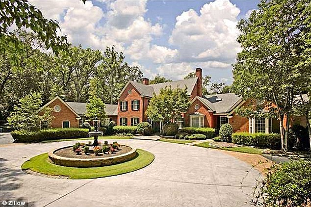 Expensive: In 2006, the residence, pictured in real estate photos, was bought for $3.9 million by Richard and April Rice, but Renasant Bank assumed ownership in August 2011