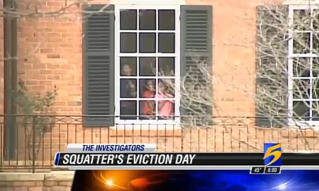 Squatters: A group of squatters, pictured, broke in to the $3million mansion in Memphis, Tennessee, and refused to leave