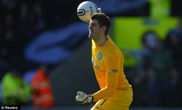 Ambitious: Fraser Forster hopes to move to the Premier League