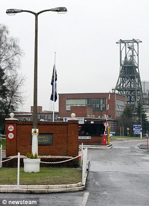 Historic: Daw Mill is the last remaining mine in the Warwickshire coalfields and will shut after 47 years of production