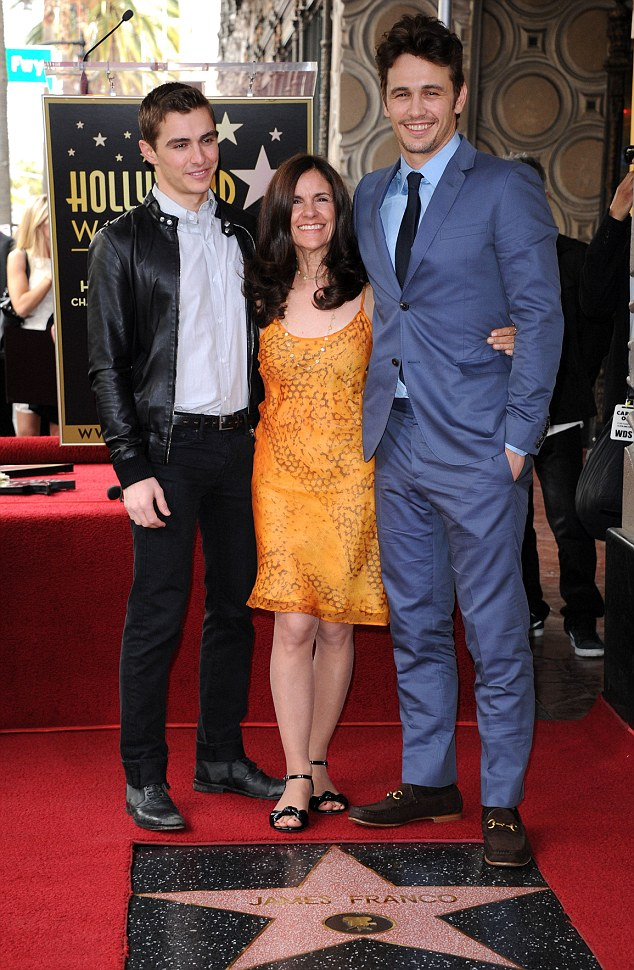 A family affair: James was joined by his mother and his younger brother Dave